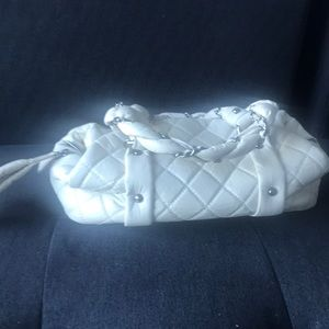 CHANEL Bags - Chanel off white quilted leather bag